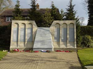 large dambusters memorial in woodhall spa