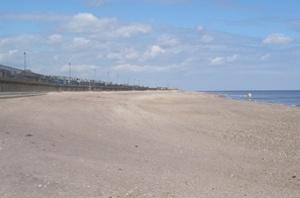 The beach at Sutton On Sea